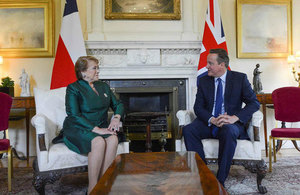 PM meets with the President of Chile at Downing Street.