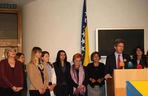 Ambassador Ferguson with members of the Women's Caucus of the FBIH House of Representatives