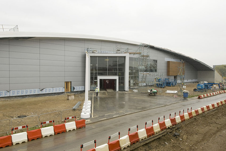 The new Pathfinder Building at RAF Wyton shortly before the topping out