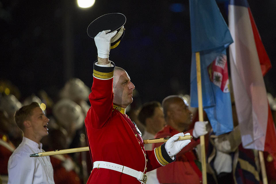 Armed Forces take part on celebration of The Queen's Birthday