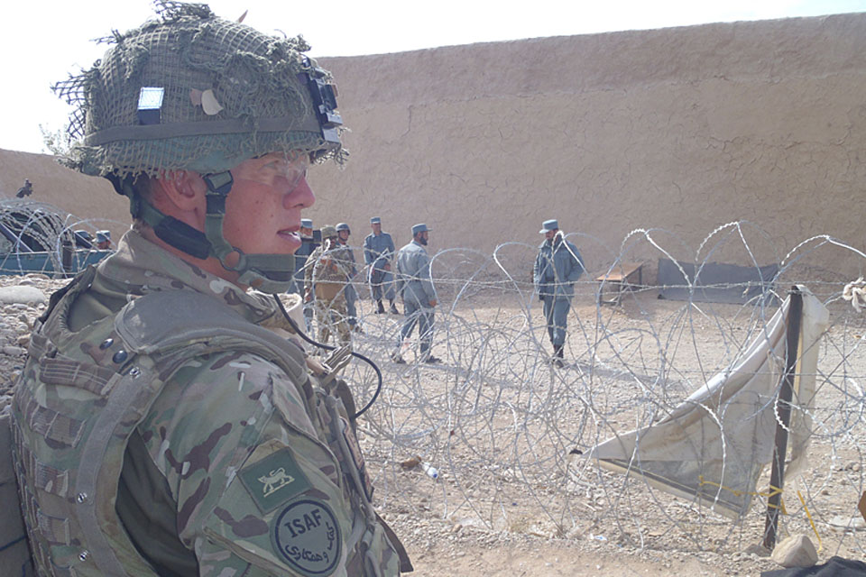 Private Thomas Gosman, 1st Battalion The Princess of Wales's Royal Regiment, at Checkpoint Sabir in Babaji