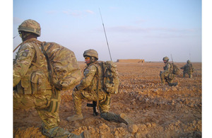 British soldiers on operation in Helmand province, southern Afghanistan (stock image)