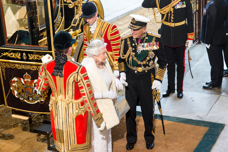 Arrival of the Queen and the Duke of Edinburgh at Sovereign's Entrance