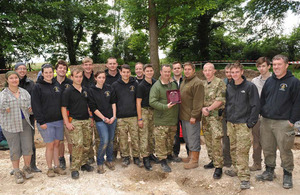 Military personnel involved in Operation Nightingale proudly display their British Archaeological Award
