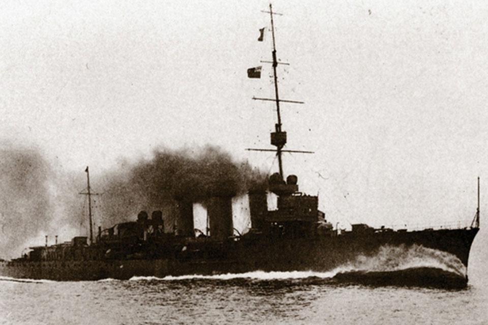 HMS Caroline was part of Admiral Jellicoe's fleet in the Battle of Jutland during the First World War