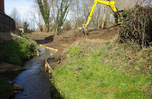 Improvement works have been carried out on Witham Brook, Grantham