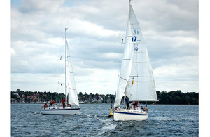 Army crews battle it out for supremacy at the 7th Armoured Brigade Regatta in Kiel, Germany