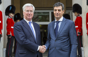 Defence Secretary Michael Fallon with his Romanian counterpart Mihnea Motoc. Crown Copyright.
