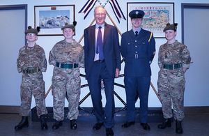 Minister for Reserves Julian Brazier at Broxburn Academy. Crown Copyright.