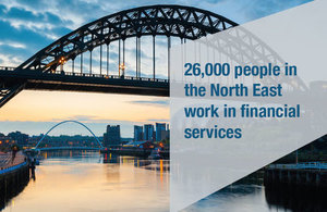26,000 people in the North East work in financial services