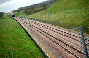 HS2 track.