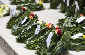 Wreaths were laid at the Cenotaph for UN peacekeepers who lost their lives