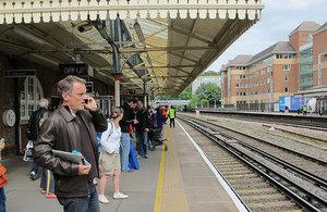 Farnborough railway station.