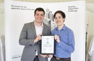 UKAEA winning regional Brathay Apprentice award