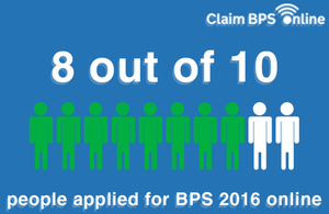 8 out of 10 people applied for BPS 2016 online