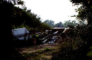 A field in Merriot, near Crewkerne, was used for illegal dumping of waste