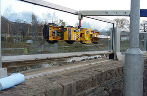 Glass panel repairs at Keswick