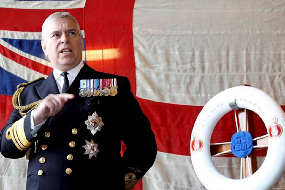 His Royal Highness The Duke of York attended a Jutland 100 reception on board HMS Duncan in London