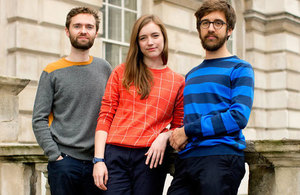 The co-founders of Unmade Hal Watts, Kirsty Emery and Ben Alun-Jones