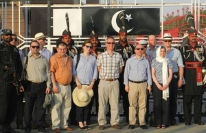 Members of the Royal College of Defence studies UK visiting Pakistan