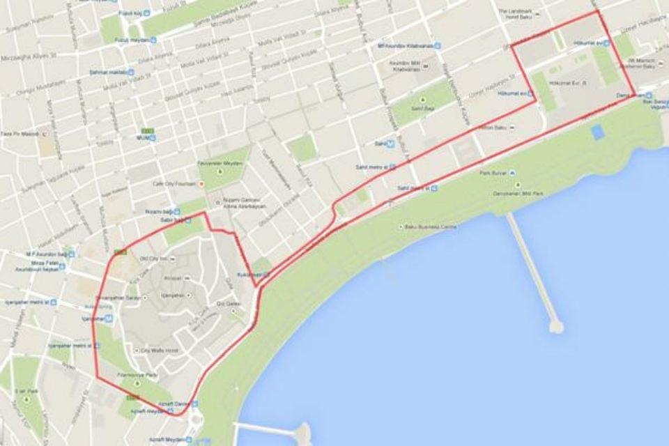 Baku racing circuit