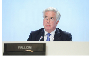 UK Secretary of State for Defence Michael Fallon delivering his address at the IISS Shangri-La Dialogue in Singapore on 4 June 2016. Photo Credit: International Institute for Strategic Studies