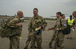 UK Armed Forces personnel arriving in South Sudan to support UN peacekeeping operations. Picture: UNMISS.