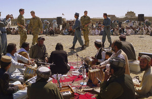 The community concert held in the Babaji area of the Lashkar Gah district of Helmand province was organised entirely by the Afghan Uniform Police