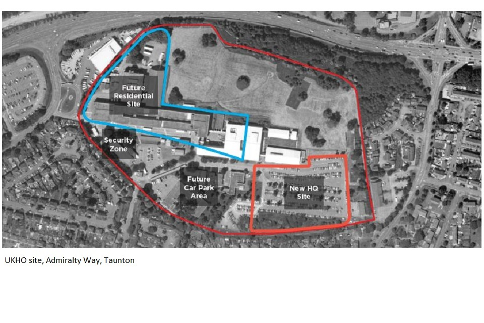 Proposed redevelopment of UKHO site Admiralty Way, Taunton