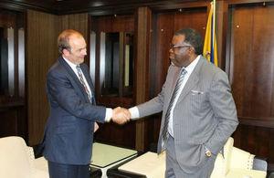 Minister Duddridge and President Geingob