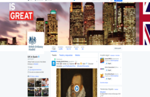 British Embassy Madrid on social media