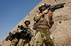 Royal Marines of 4 Troop, Bravo Company, 40 Commando, at Forward Operating Base Jackson in Sangin, Helmand province