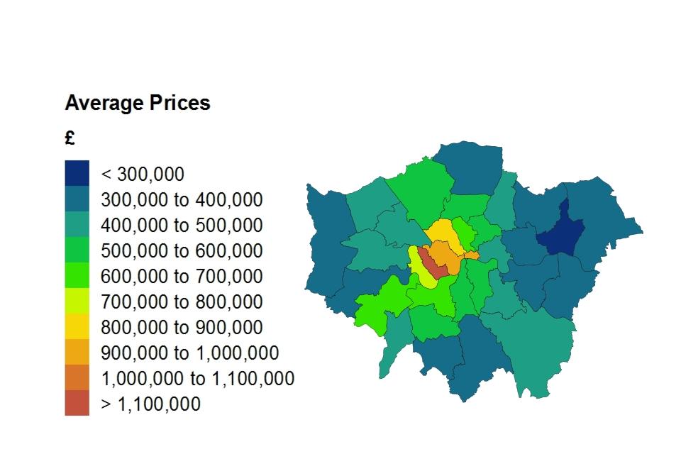 Average price by London borough