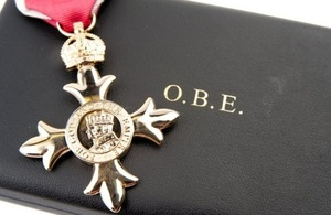 Image of OBE medal