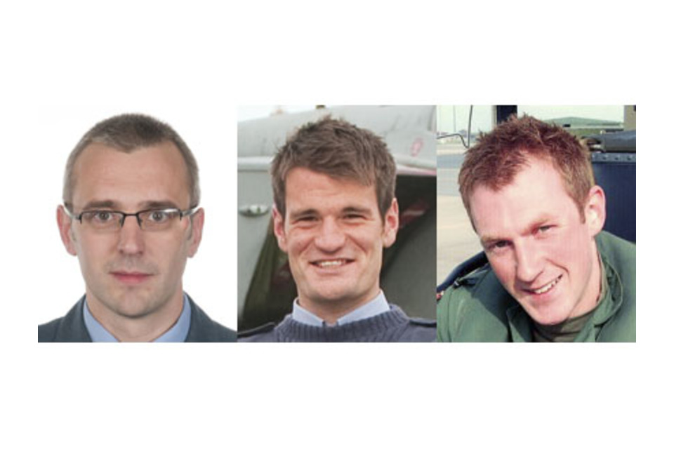 Squadron Leader Samuel Bailey, Flight Lieutenant Hywel Poole and Flight Lieutenant Adam Sanders, all of XV (Reserve) Squadron based at RAF Lossiemouth (All rights reserved.)