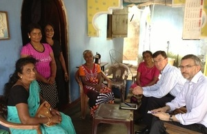 British High Commissioner with resettled families