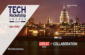 Deadline to apply for Tech Rocketship Awards extended to 30 June