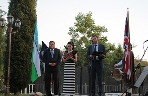 The Ambassador welcomed the guests and spoke of strengthening UK-Uzbekistan bilateral relations before proposing a toast to the Queen.