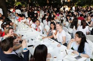 "The Consulate General in Shanghai celebrated HM The Queen's 90th Birthday by breaking the ""Largest Cream Tea Party"" Guinness World Record."