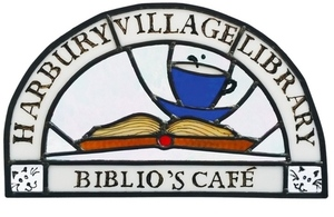 Harbury Village Library logo, based on a piece of stained glass artwork created by one of the library volunteeers, Tony Estick