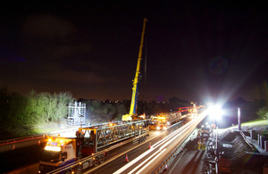 Motorway gantry installation