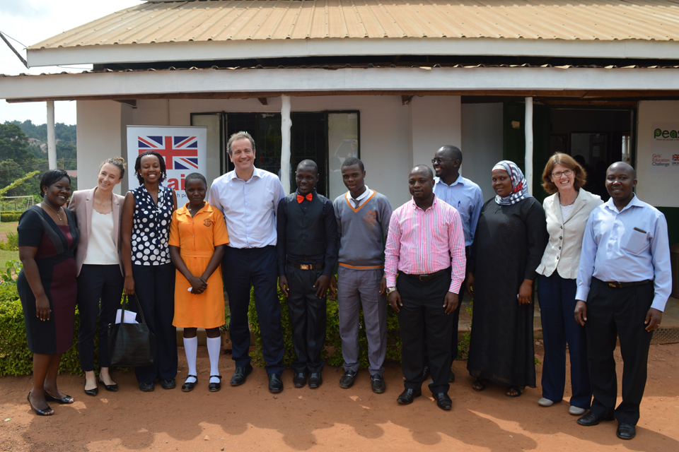 Nick Hurd MP visits Uganda PEAS school
