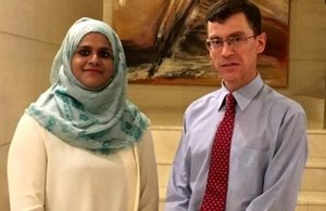 British High Commissioner for Maldives H E James Dauris with Safaath Ahmed Zahir