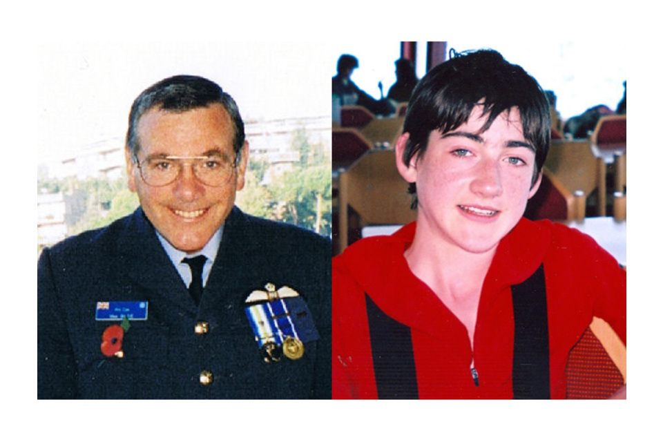 Flight Lieutenant Mike Blee and Cadet Nicholas Rice (All rights reserved.)