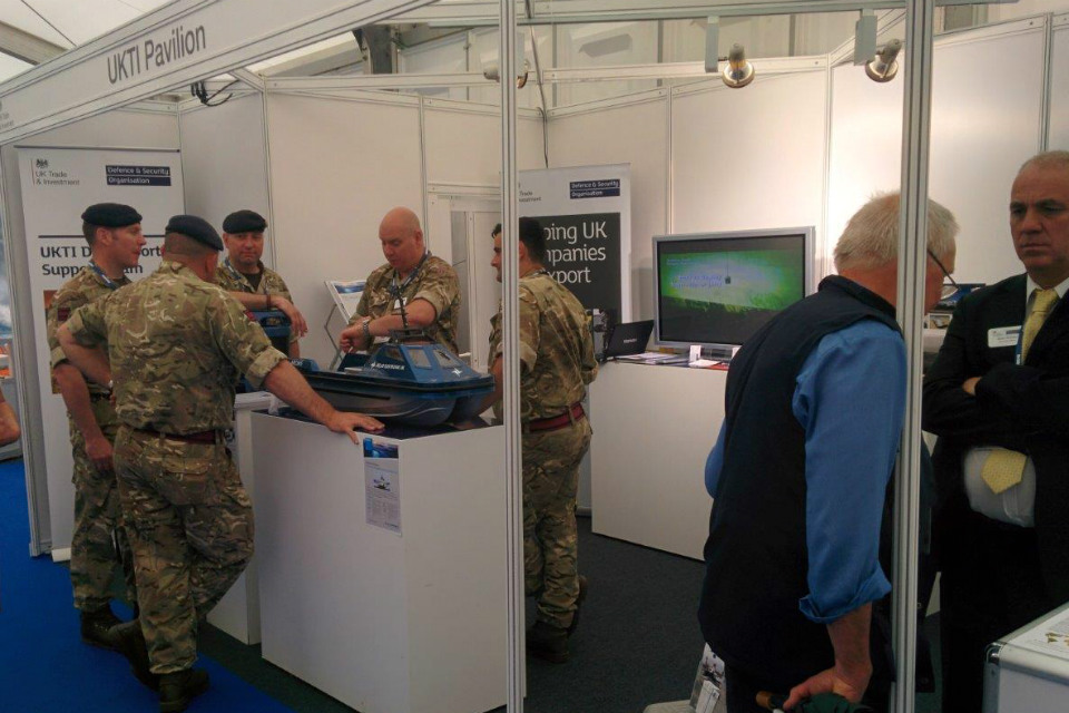 UK Pavilion at Seawork 2016