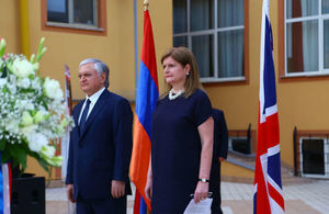 Her Majesty's Ambassador to Armenia Judith Farnworth and the Minister of Foreign Affairs of the Republic of Armenia Edward Nalbandian
