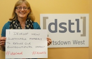 Dstl's Laura Jones supporting National Women in Engineering Day