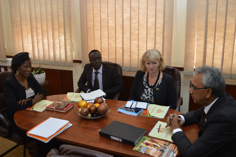 Lord Popat at meeting with KCCA Executive Director