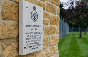 Commemorative plaque in the Garden of Remembrance