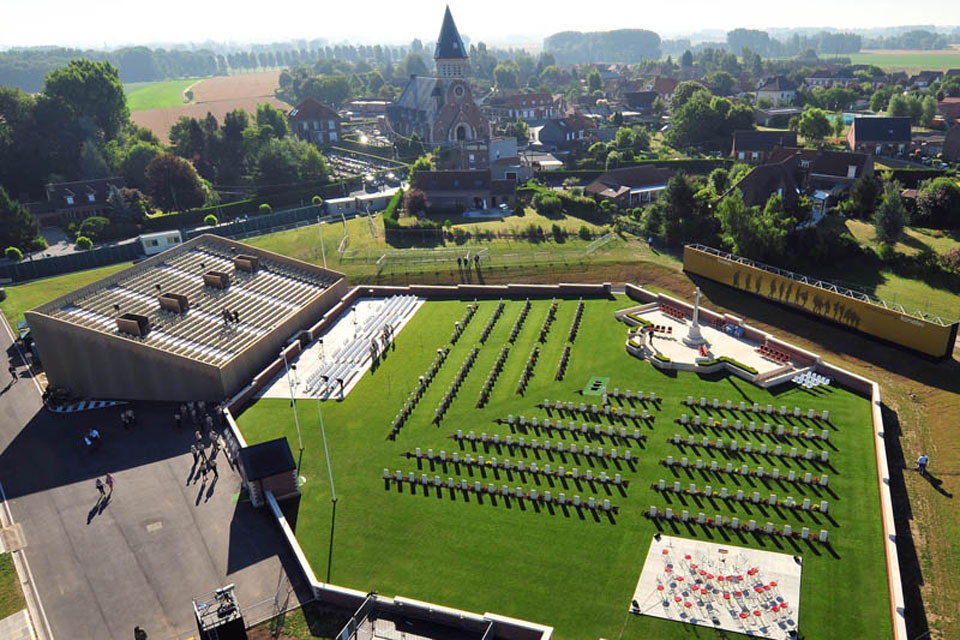 The new Commonwealth War Graves Commission Cemetery at Fromelles, northern France